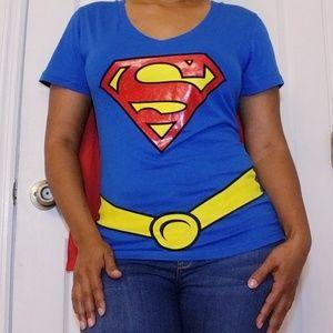 DC Comics Tops - Superman/SuperGirl Tshirt